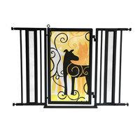 Fusiongates Dream Dog Pet Gate Finish: Black, Size: 36