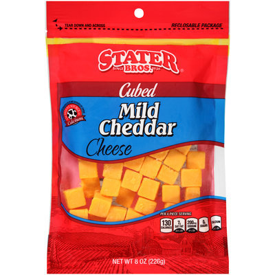 Stater Bros.® Cubed Mild Cheddar Cheese 8 oz. Bag