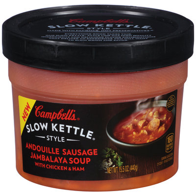 Campbell's® Slow Kettle® Style Andouille Sausage Jambalaya Soup with Chicken & Ham 15.5 oz. Box