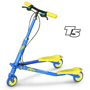 Trikke Tech T5-BUYL - T5 Kids Blue-Yellow