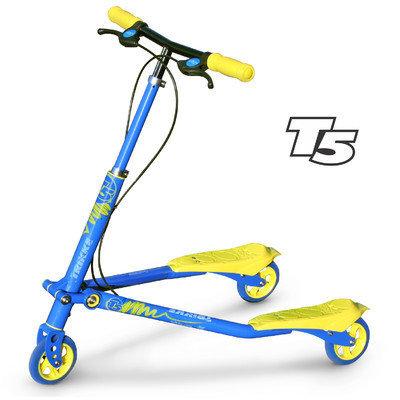 Trikke Tech T5-BUYL - T5 Kids Blue-Yellow