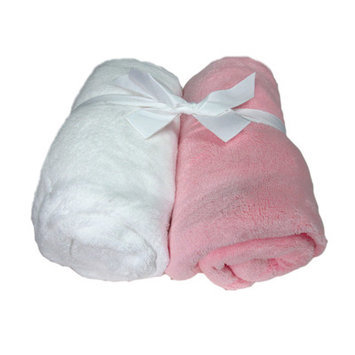 Cozy Fleece Microplush Fitted Crib Sheet Color: Pink/White