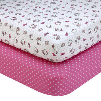 Hello Kitty Cute as a Button 2 Piece Sheet Set