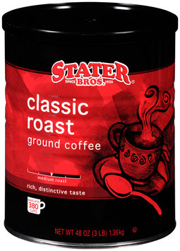 Stater Bros.® Classic Roast Ground Coffee 48 oz. Canister