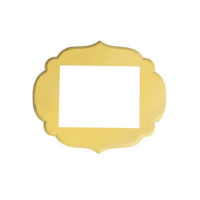 Secretly Designed Kennedy Frame Size: 11x14, Color: Buttercream