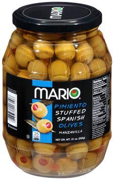 Mario® Pimiento Stuffed Spanish Manzanilla Olives 21 oz. Jar