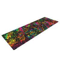 Kess Inhouse Prismatic Posy IV by Ebi Emporium Rainbow Floral Yoga Mat