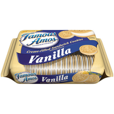 Famous Amos® Sandwich Cookies Vanilla Creme-Filled
