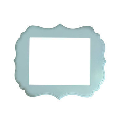 Secretly Designed London Frame Size: 11x14, Color: Baby Blue