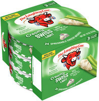The Laughing Cow® Creamy Swiss Light Cheese Wedges 3 ct Pack