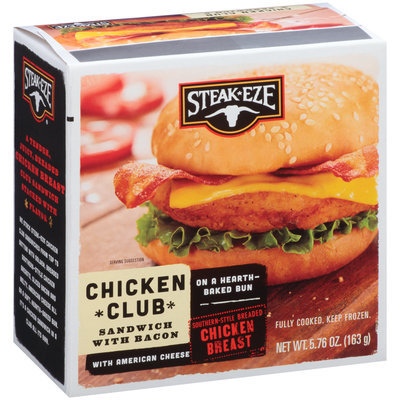 Steak-Eze® Chicken Club Sandwich with Bacon & American Cheese 5.76 oz. Box