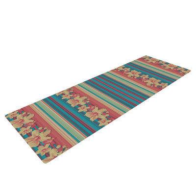 Kess Inhouse Mahalo Denim Stripe by Nina May Floral Yoga Mat