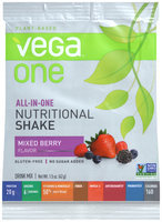 Vega™ One Plant-Based Mixed Berry Flavor Nutritional Shake Drink Mix 1.4 oz. Packet
