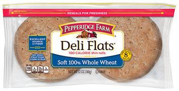 Pepperidge Farm® Deli Flats® Soft 100% Whole Wheat 100 Calorie Thin Rolls 8 ct