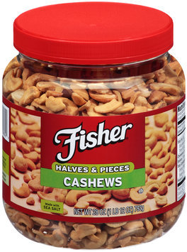 Fisher® Cashews Halves & Pieces 28 oz. Jar