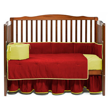 Baby Doll Bedding Solid 4 Piece Crib Bedding Set Color: Red/Yellow