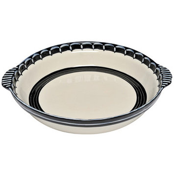 Thompson And Elm Colors Casserole Dish Color: Black/Cream