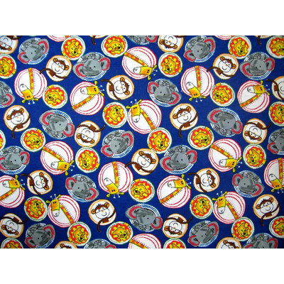 Stwd Safari Animal Circles Pack N Play Fitted Playard Sheet