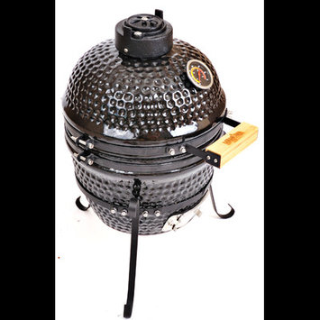 Kahuna Grills Charcoal Smoker and Grill, Black