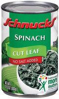 Schnucks Cut Leaf No Salt Added Spinach 13.5 Oz Can