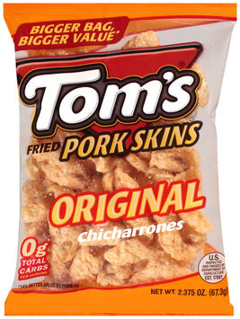 Tom's® Original Chicharrones Fried Pork Skins 2.375 oz. Bag