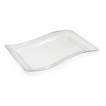 Fineline Settings, Inc Wavetrends Rectangle Dessert Plate (Pack of 120), Clear