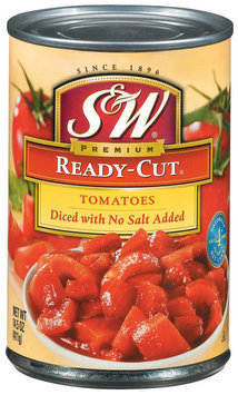 S&W® Ready-Cut Diced Tomatoes No Salt Added 14.5 oz. Can