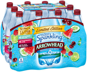 Arrowhead® Sparkling Mountain Spring Water 12-1L Bottles