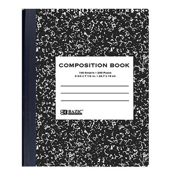 Bazic 508- 48 withR 100 Ct. Black Marble Composition Book