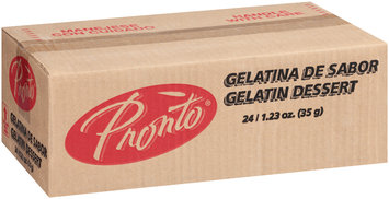 Pronto™ Lemon Water Based Gelatin Dessert 24-1.23 oz. Boxes