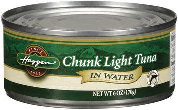 Haggen® Chunk Light Tuna in Water 6 oz Can