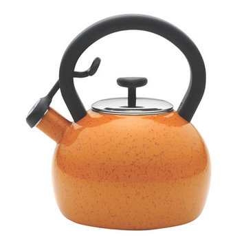 Meyer Corporation Us Paula Deen Signature Enamel on Steel 2-quart Orange Speckle Whistling Teakettle