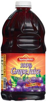 Springfield 100% from Concentrate Grape Juice 64 Fl Oz Plastic Bottle