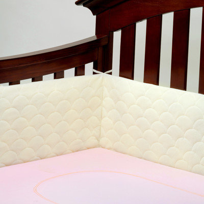 Ubimed Lifenest Breathable Padded Mesh Crib Bumper - Cream