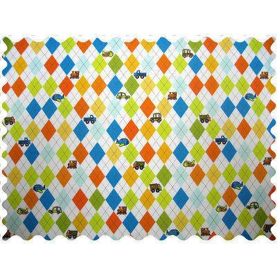 Stwd Argyle Transport Fabric by the Yard Color: White