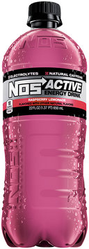 NOS Active Energy Drink Raspberry Lemonade 22 fl. oz. Plastic Bottle