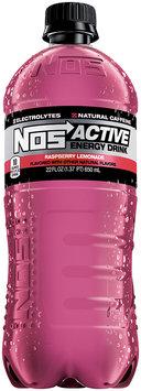 NOS Active Energy Drink Raspberry Lemonade 22 fl. oz. Plastic Bottle