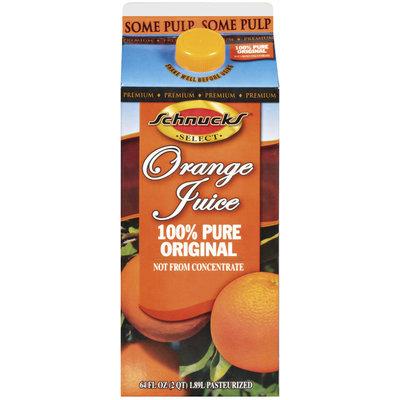 Schnucks 100% Pure Original Orange Juice 64 Oz Carton