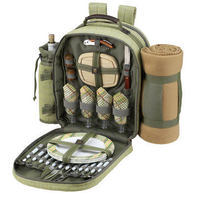 Picnic at Ascot Backpack for Four with Blanket