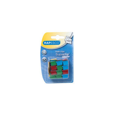 Rapesco Supaclip Clips Multi Coloured (Pack 50) CL/D