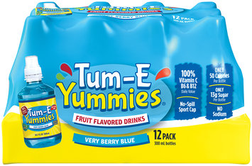 Tum-E Yummies Very Berry Blue Fruit Flavored Drink 12-10.1 fl. oz. Plastic Bottles