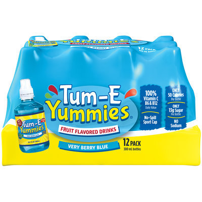 Tum-E Yummies Very Berry Blue Fruit Flavored Drink 12-10.1 fl. oz. Plastic Bottles