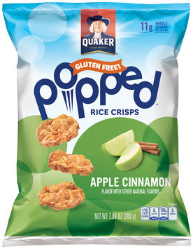 Quaker® Popped® Apple Cinnamon Rice Crisps 7.04 oz. Bag