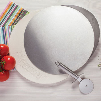 Fervor Stainless Steel Pizza Stone and Cutter Set
