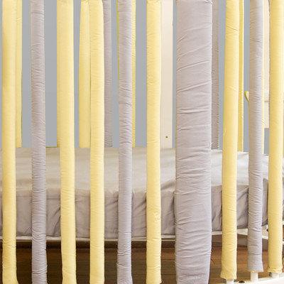 Go Mama Go Designs Wonder Bumpers Grey Cotton & Yellow Cotton Stokke