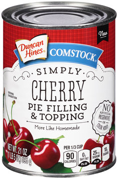 Comstock® Simply Cherry Pie Filling & Topping 21 oz. Can