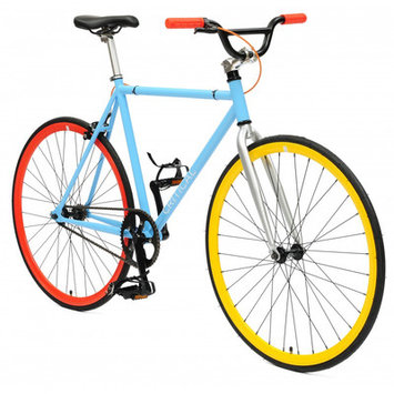 Critical Cycles Fixed Gear Fixie Urban Road Bike, Light Blue, Large