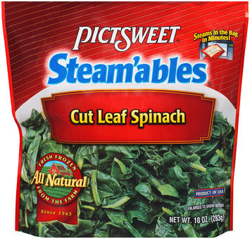 STEAM'ABLES ALL NATURAL Cut Leaf Spinach 10 OZ STAND UP BAG