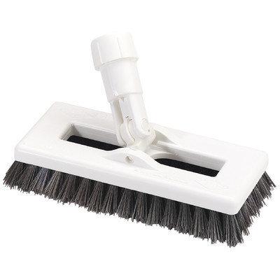 Carlisle Swivel Scrub with Polyester Bristles Color: White