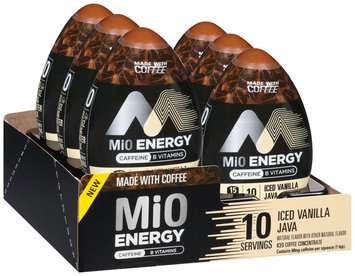 MiO Energy Iced Vanilla Java Iced Coffee Concentrate 1.62 fl. oz. Bottle